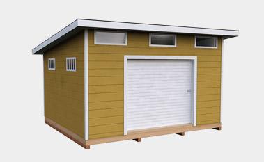 12x14 free lean-to shed plan