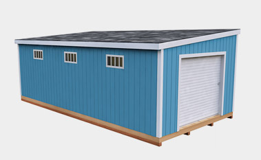 12x24 free gable shed plan