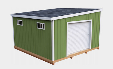 14x14 free lean-to shed plan
