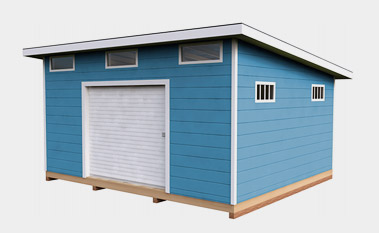 14x16 free lean-to shed-plan