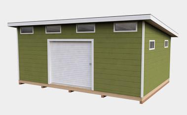 14x20 free gable shed plan