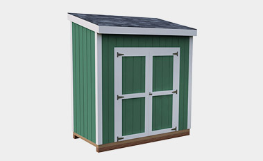 4x8 free lean-to shed plan