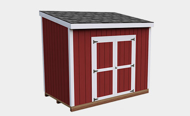 6x10 free lean-to shed plan