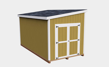 8x16 free lean-to shed plan