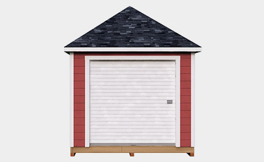 free 10x16 hip shed plan