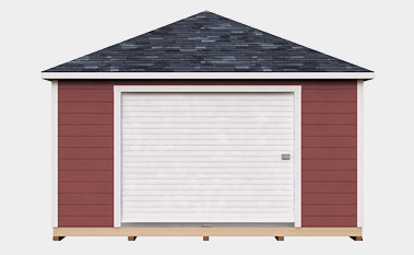 free 16x20 hip shed plan
