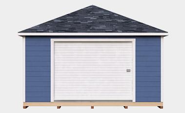 free 16x24 hip shed plan
